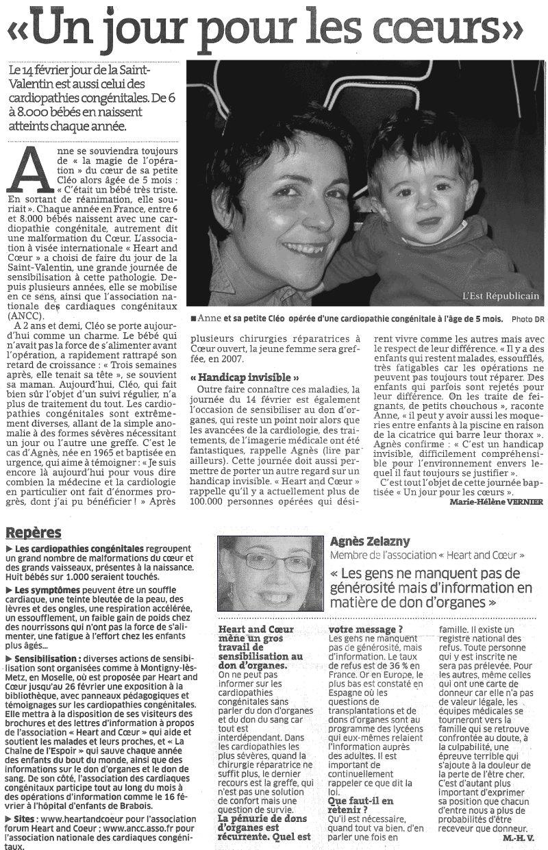 Anne, Cléo, et Agnès Z sur  l' Est  républicain.
