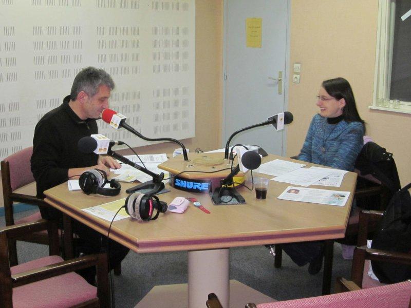 Thierry Georges et Sandrine bibliothécaire Bibliothécaire de Montigny les Metz