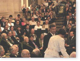 Christine et Jonathan SEIDMAN sous la coupole