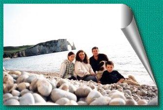 La famille sur la plage d'Etretat