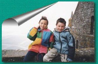 Gaëlle et Adrien en Haut du Mont SAINT -MICHEL