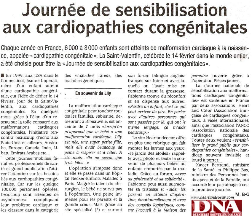 Article paru sur Dernières Nouvelles d'Alsace