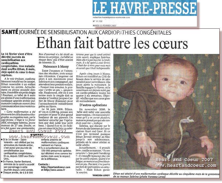 Ethan et sa maman Sabrina sur le Havre Presse