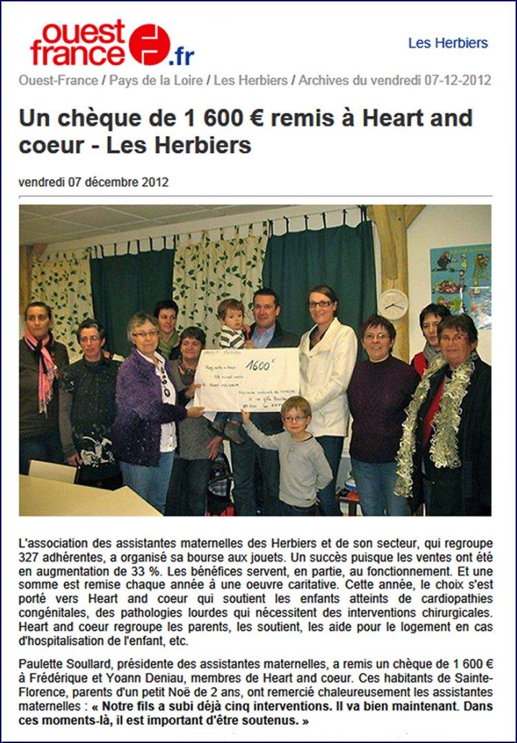 Article sur Ouest France