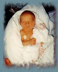 Julie à la naissance