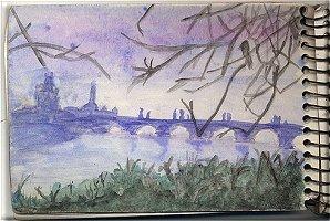 dessin: Prague, le Pont CHARLES