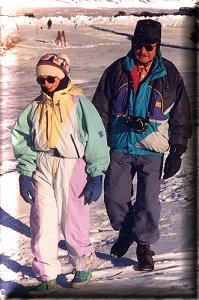 à la neige avec Papy