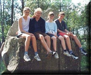de gauche à droite, Gaëlle, Olivier, moi et Cyril