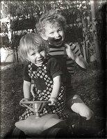 Nadège et son frère