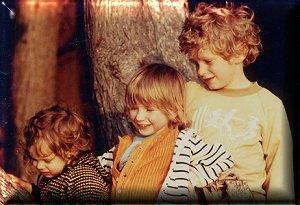 avec mon frère et ma petite soeur